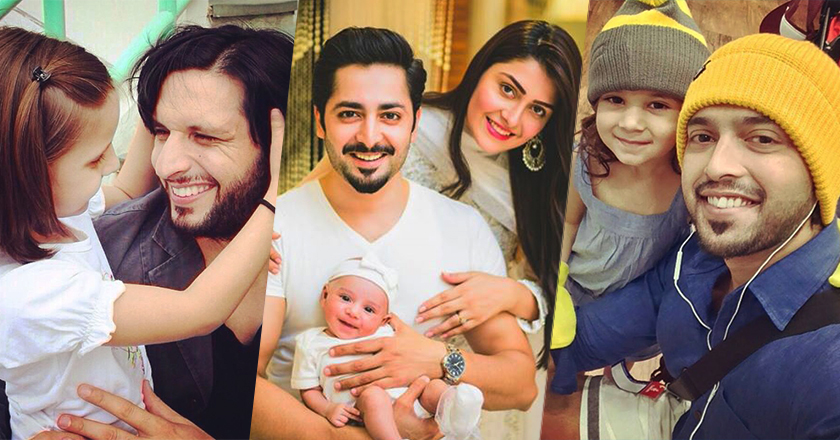 top pakistani celebrity dads with their kids