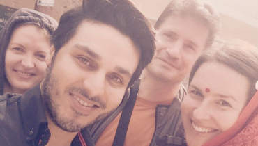 Ahsan Khan visits India