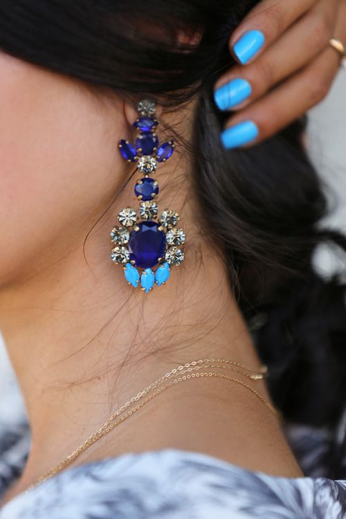 Artificial Jewellery Designs For girls- blue