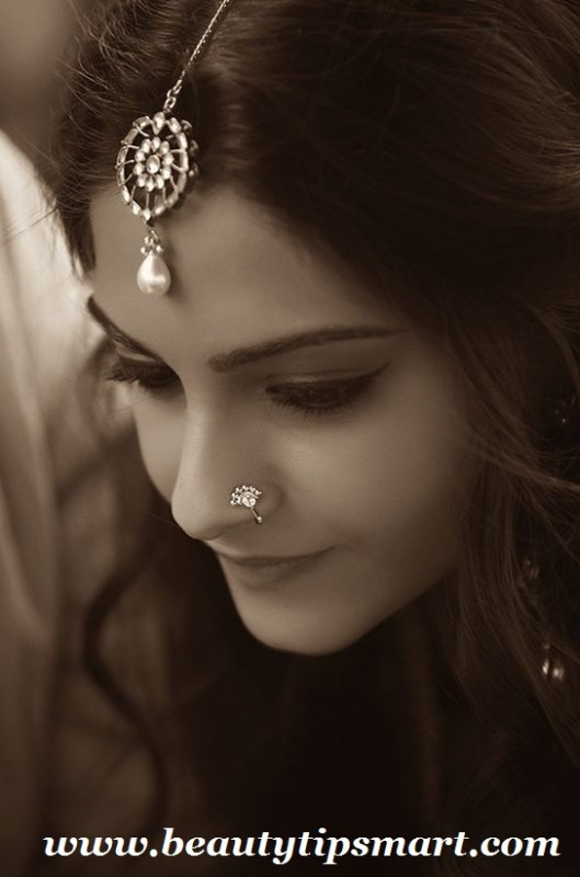 Artificial Jewellery Designs 2016 For girls- tikka n nose pin