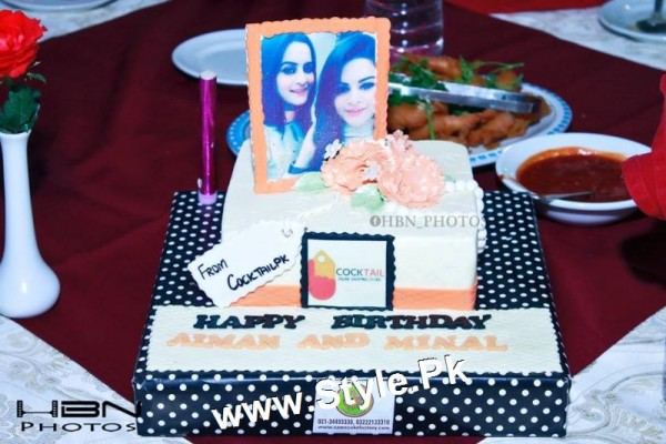 Birthday Celebrations of twins celebrities Aiman Khan and Minal Khan (16)