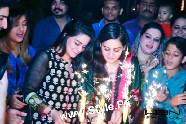 Birthday Celebrations of twins celebrities Aiman Khan and Minal Khan (3)