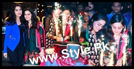 Birthday Celebrations of twins celebrities Aiman Khan and Minal Khan (30)
