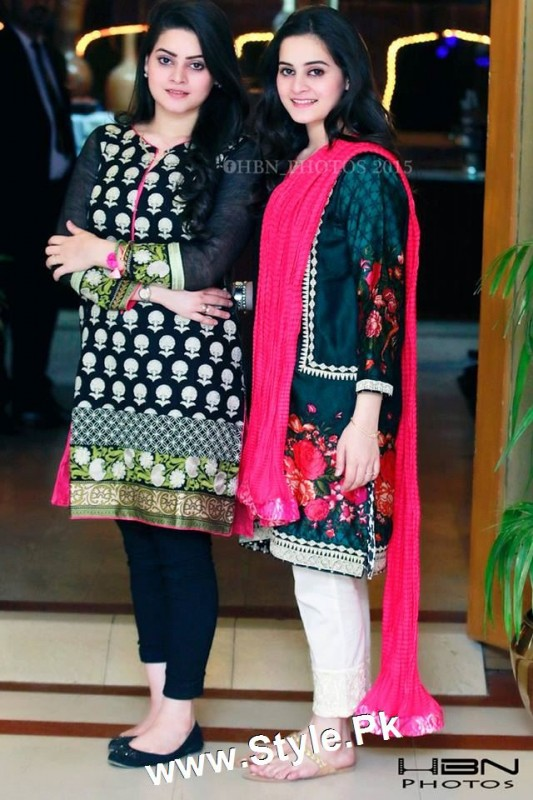 Birthday Celebrations of twins celebrities Aiman Khan and Minal Khan (4)