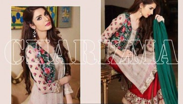 Charizma Chiffon Collection 2015 Volume 5 For Women0012
