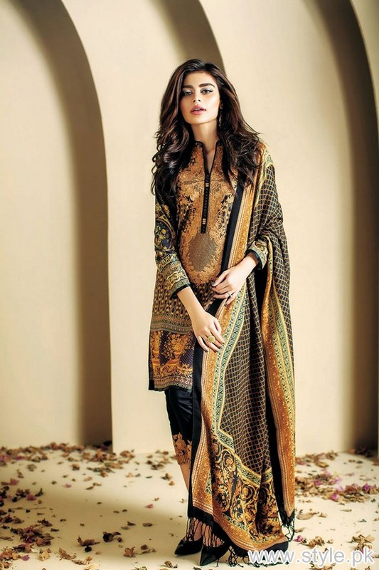 Ethnic by Outfitters Winter Dresses 2015 For Girls 3