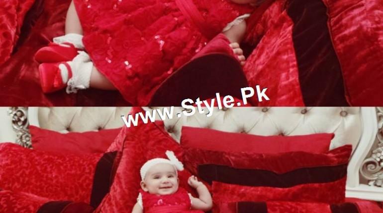 See Four months old baby Hoorain Taimoor