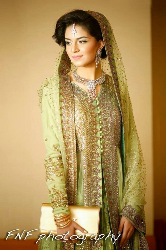 Latest Bridal Dresses valima green