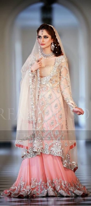 Latest Bridal Dresses valima pink