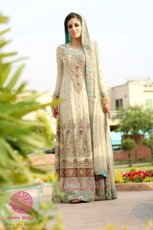 Latest Bridal Dresses white