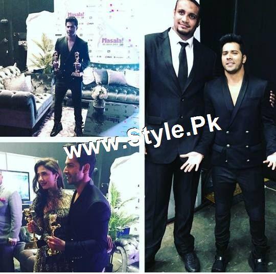 Mahira Khan and Varun Dhawan are winners of Masala Awards 2015 (2)