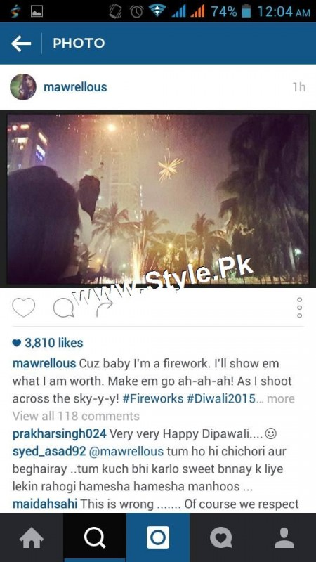 Mawra Hocane is celebrating Diwali 2015 in Mumbai (4)