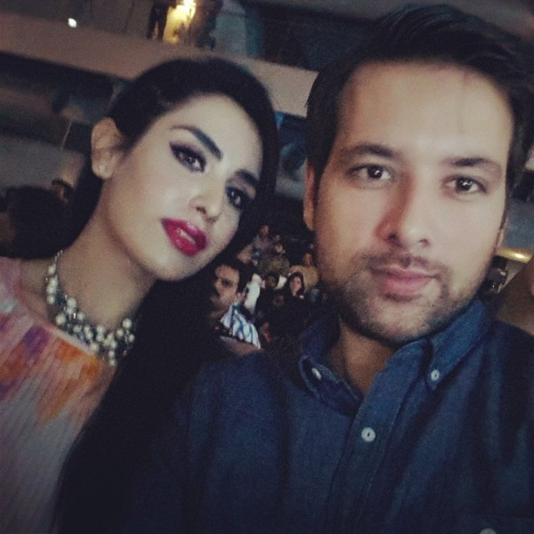 Mikaal zulfiqar with his wife