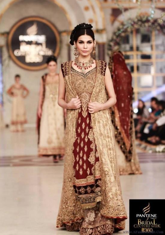 Pakistani Barat Dresses 2016- maroon