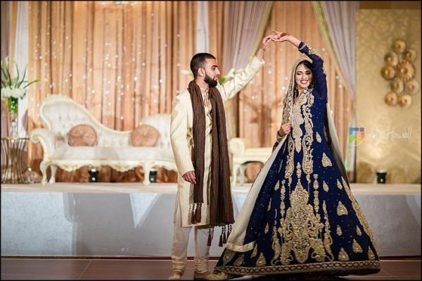 Simple Pakistani Walima dress