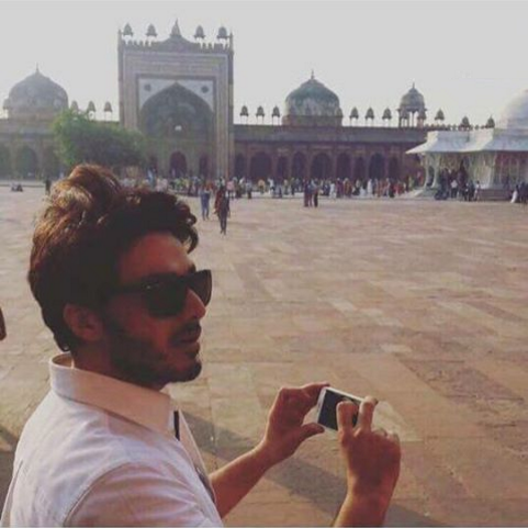 Pakistani actor Ahsan Khan in India
