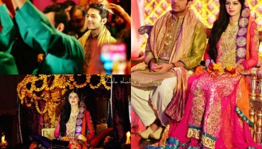 Latest Pakistani mehndi dresses