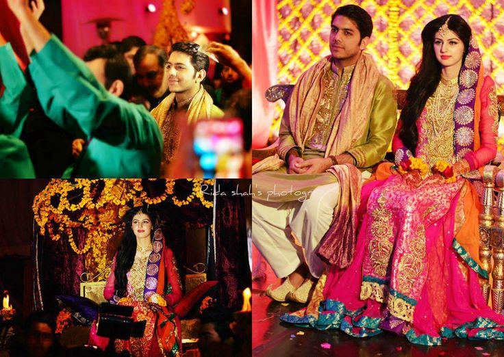 Mehendi Ceremony Look : Pakistani mehndi dresses 2017