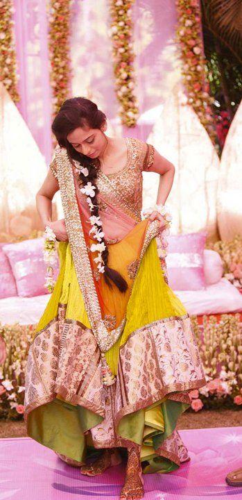 Trendy Pakistani mehndi dresses