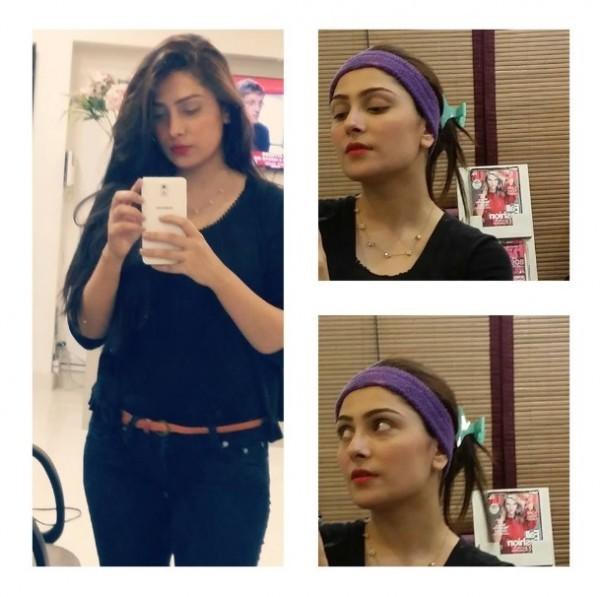 ayeza khan in black suit