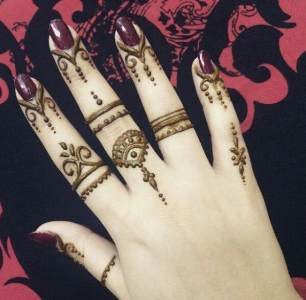 Mehndi Design With Fingers : Stylish mehndi designs