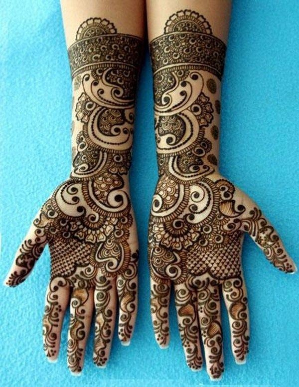 indian mehndi designs 2016 -blue
