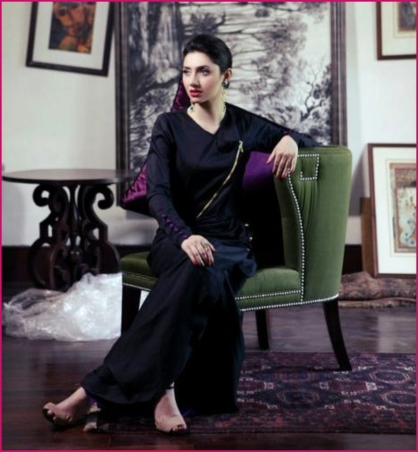 mahira khan black dress