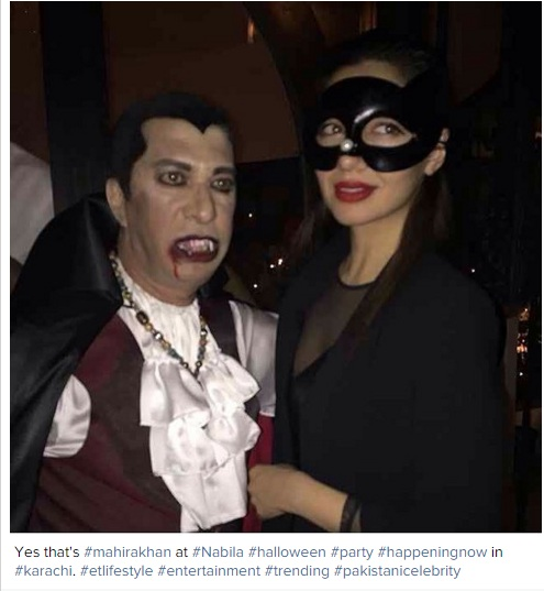 mahira khan halloween pictures
