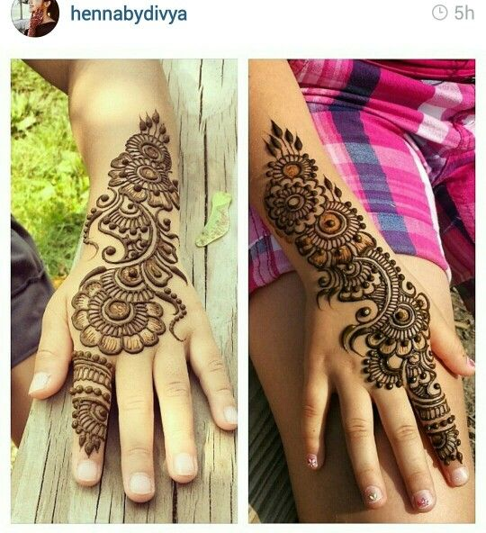 A New Decorating Trend For 2016: Mehndi Designs For Kids 2016