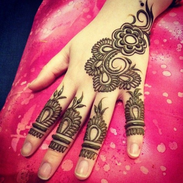 pakistani mehndi designs 2016-black