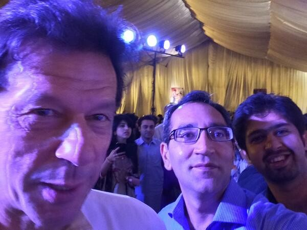 selfie of imran khan