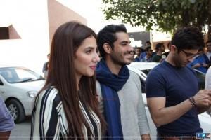 Adeel Hussain and Mahira Khan at IOBM university Karachi
