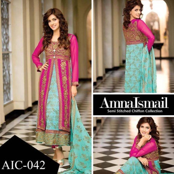 Amna Ismail Chiffon Collection 2016 For Women