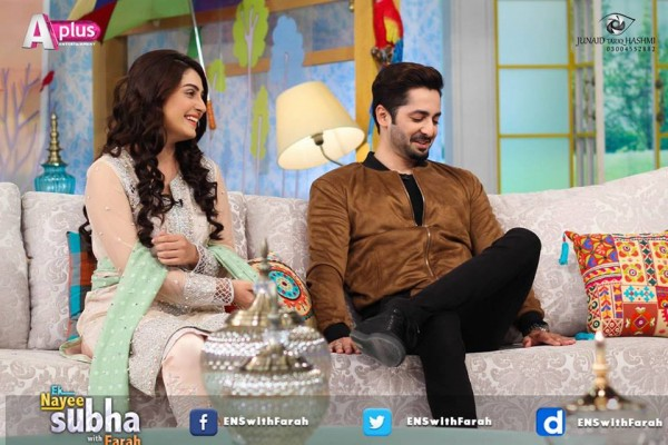 Ayeza Khan and Danish Taimoor in Ek Nayee Subha (7)