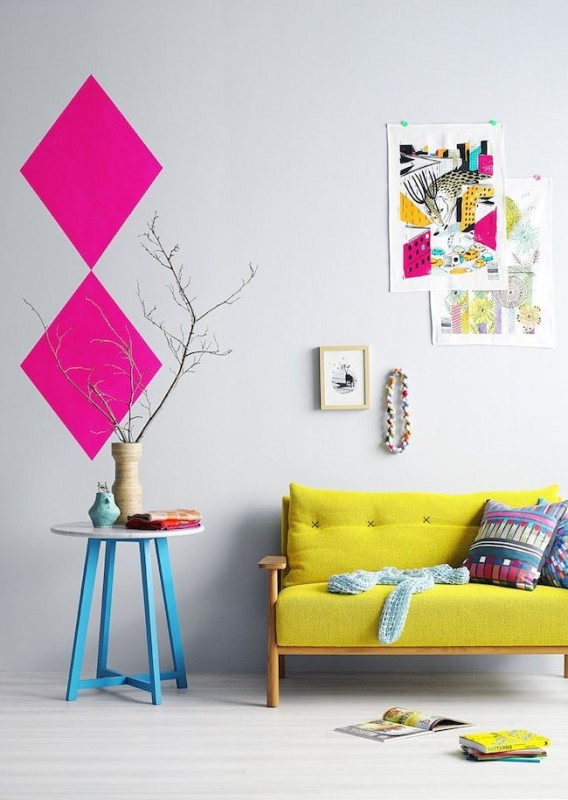 Colorful Interior Home Decoration-yellow