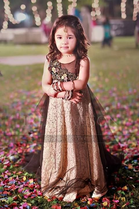 Kids Fancy dresses 2016 in Pakistan-black