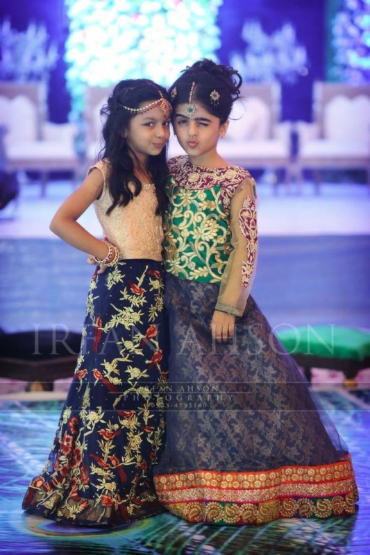 Kids Fancy dresses 2016 in Pakistan-blue dark