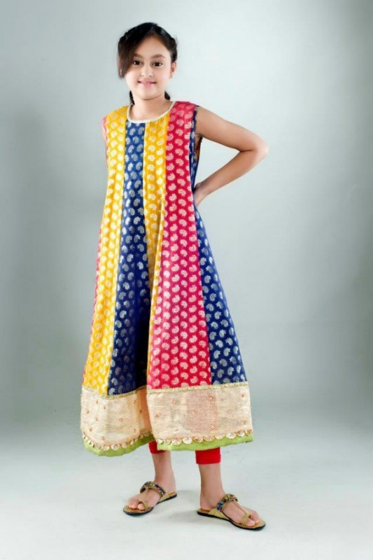 Kids Fancy dresses 2016 in Pakistan -multicolor