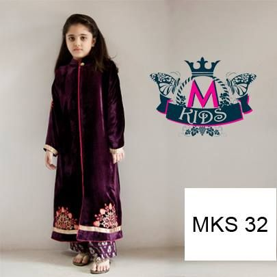 Kids Fancy dresses 2016 in Pakistan- purple