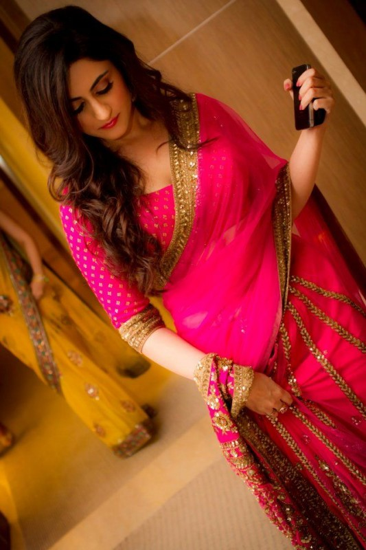 Pink Latest Sarees Designs