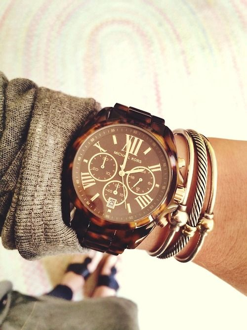 Latest Watches for Girls 2016- brown
