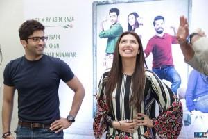 Mahira Khan and Sheheryar Munawar at IOBM