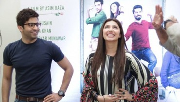 Mahira Khan and Sheheryar Munawar at IOBM