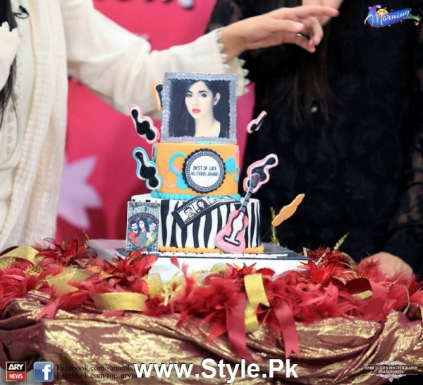 Mahira Khan celebrated her advance birthday in The morning Show (4)