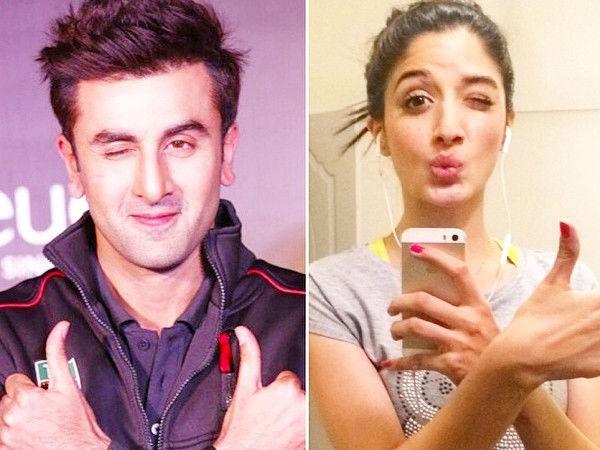 Mawra Hocane and Ranbir Kapoor selfie