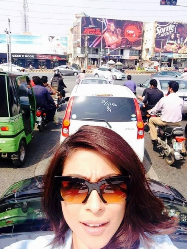 Meesha Shafi selfie