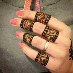 Mehndi Tattoo 2016 for girls-rings
