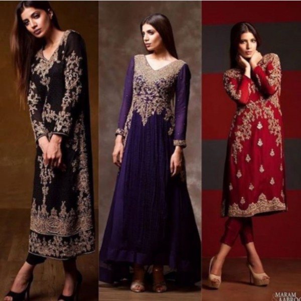 Black Pakistani Fancy Dresses For Girls
