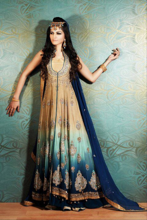 Mix Colored Pakistani Fancy Dresses For Girls