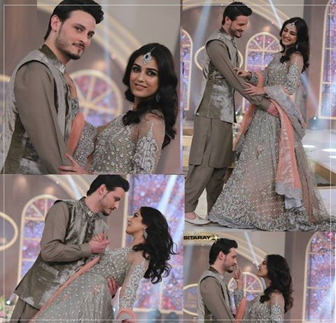See The beautiful couple Maya Ali and Osman Khalid Butt romanced on ramp